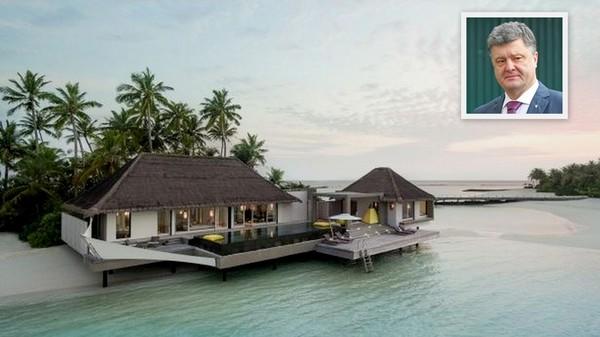 Одна из вилл на приватном острове на Мальдивах, где отдыхал Порошенко