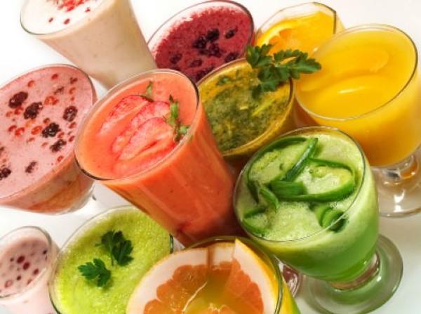 Летние фреши и фруктов и овощей