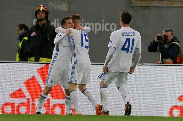 Динамо сыграло вничью с Лацио