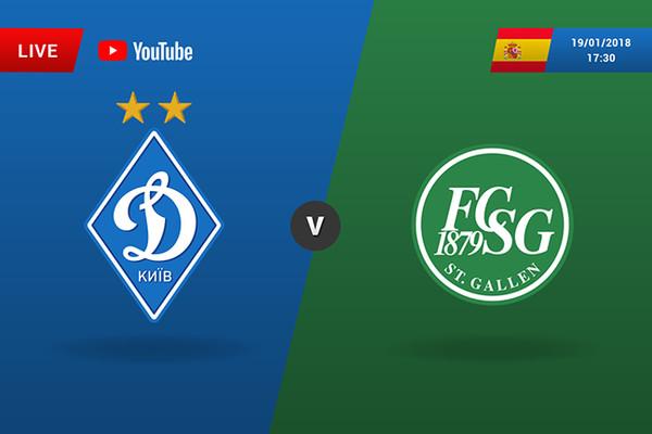 Динамо – Санкт-Галлен: онлайн трансляция матча