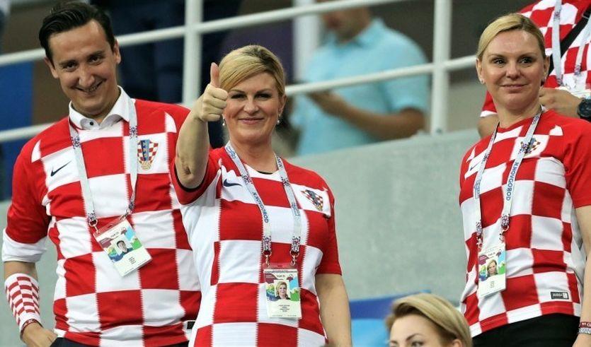 Президент Хорватии на матче национальной сборной