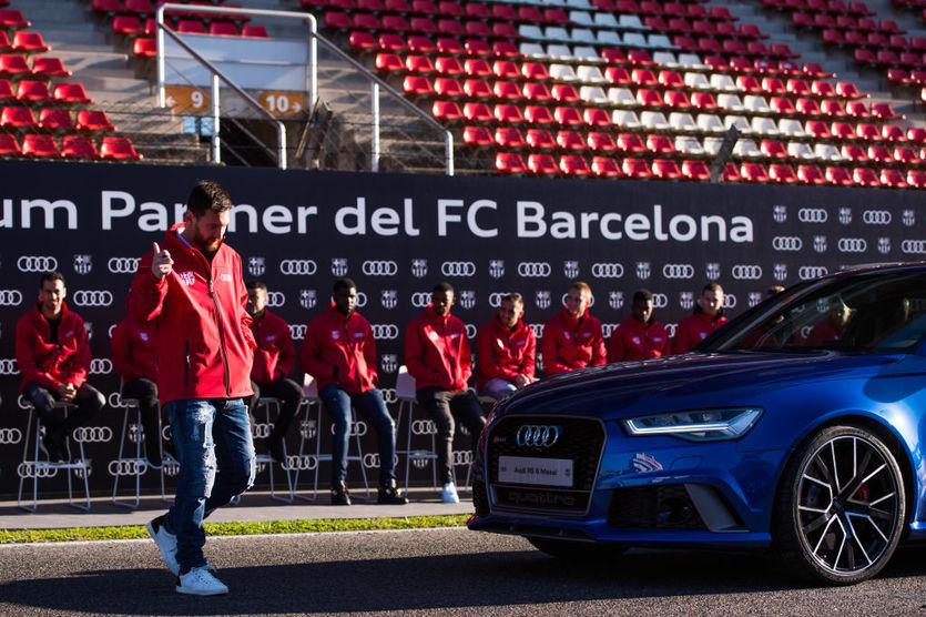Лионель Месси со своим новым Audi