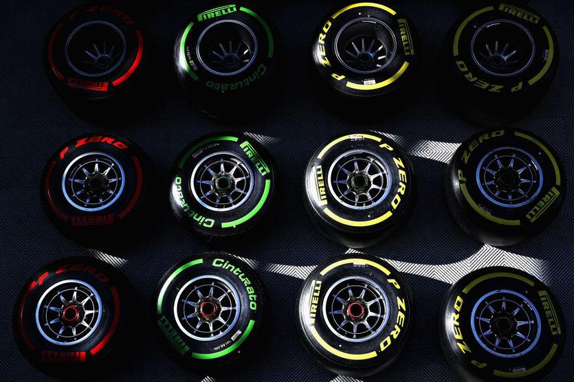Пирелли представила комплекты шин команд Формулы-1