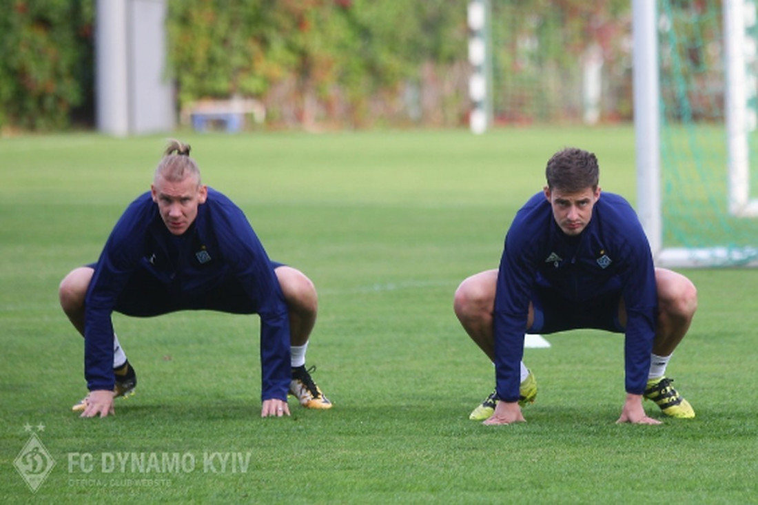 Динамо Киев на открытой тренировке