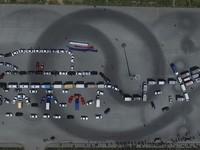 В Челябинке карусель из машин изобразила танк