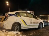 В Киеве полицейская Toyota столкнулась с Фиатом
