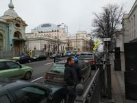Под Верховной Радой проходит митинг автомобилистов