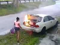 Перепутала: американка, желая отомстить бывшему, сожгла чужое авто