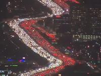 Видео огромной пробки в Лос-Анджелесе