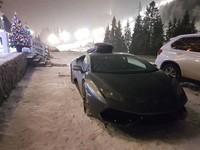 Британец приехал в украинские Карпаты на Lamborghini