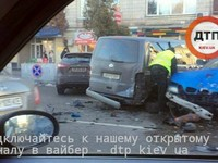 Масштабное ДТП в Киеве, BMW протаранил автомобили у посольства Израиля