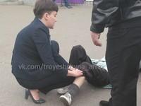 В Киеве автомобиль Савченко сбил пожилую женщину