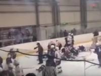 В России юные хоккеисты устроили массовую драку