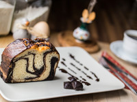 Шоколадно-апельсиновый мраморный кекс