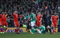 Защитнику сборной Ирландии сломали ногу в матче с Уэльсом