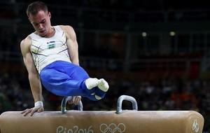 Верняев показал, что видит гимнаст во время выполнения упражнения