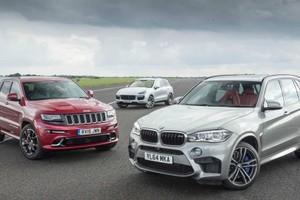 Битва внедорожников: журналисты провели тест Cayenne Turbo S, BMW X5M и Grand Cherokee SRT