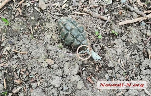 В Николаеве дети играли боевой гранатой0