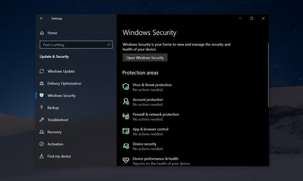 Антивирус Windows 10 блокирует обновление