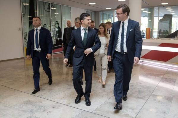 Президент Зеленский встретился с крупным бизнесом в Германии