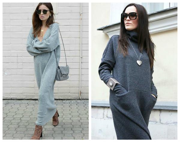 5b1cbd5186a Как носить платье зимой  10 ярких примеров - Тренды моды