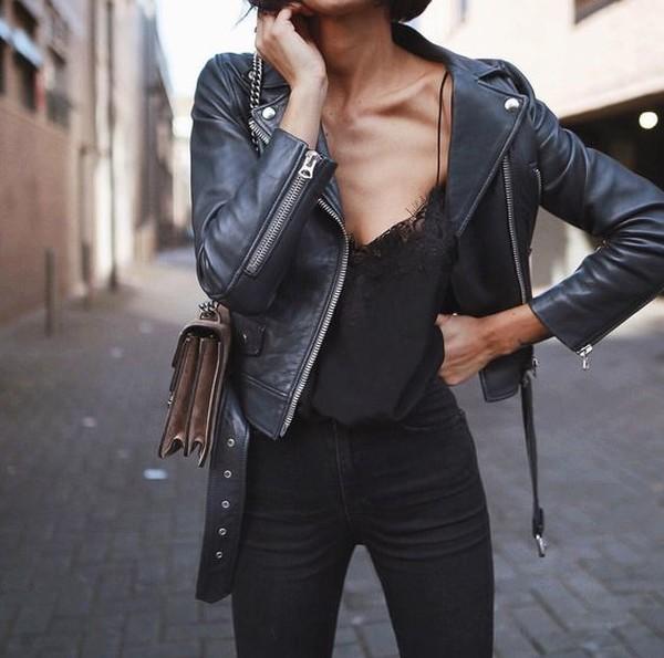 79d619dd194 Как носить кожаную курту весной  10 модных образов на каждый день