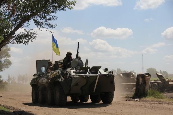 Утром 29 августа боевики четыре раза обстреляли позиции сил АТО