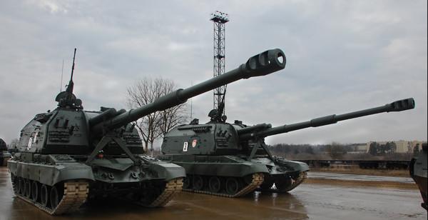 Самоходки боевиков на Донбассе
