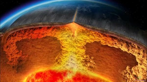 Сейчас поверхность Земли состоит из тектонических плит - осколков изначальной корки