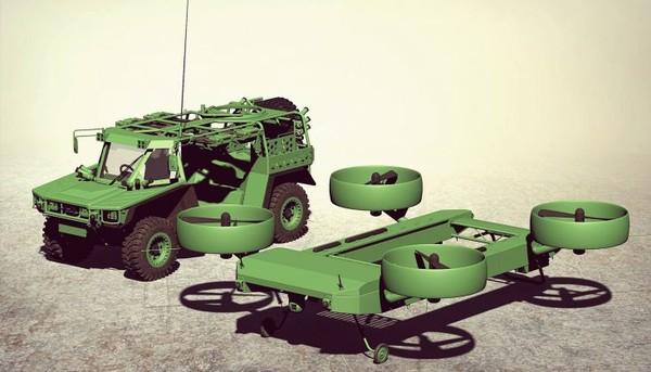 Концепт летающего бронеавтомобиля E-LSFV