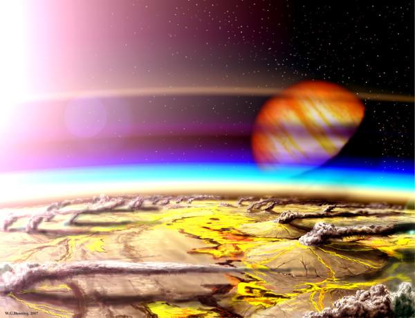 Так, по мнению художника из NASA, может выглядеть TRAPPIST-1h