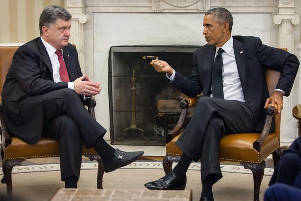 Порошенко с экс-президентом США Бараком Обамой