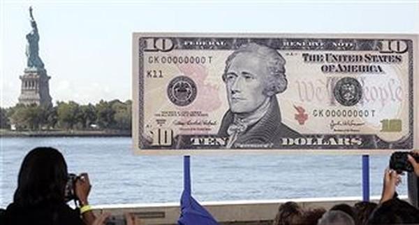В США перестали выпускать 10-долларовые купюры