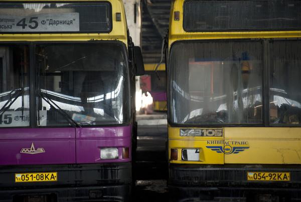 Основна закупівля автобусів була здійснена в Білорусі і Німеччини