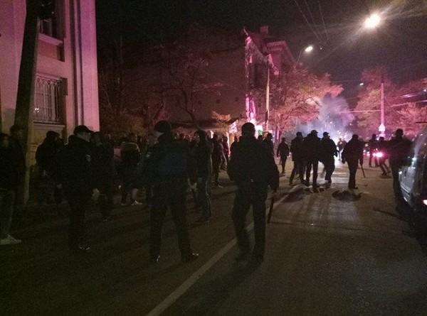 Столкновения в Одессе перед матчем Лиги Европы
