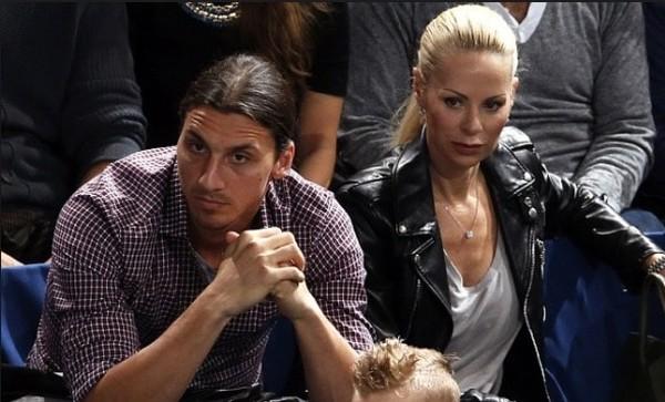 Златан Ибрагимович с женой