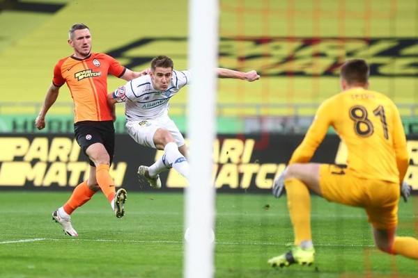 Кривцов в матче против Динамо