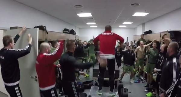 Футболисты Легии взорвали раздевалку криками