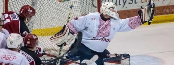 Канадские хоккеисты провели матч в вышиванках