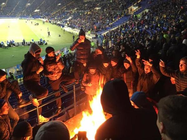 Фанаты на матче Украина - Сербия