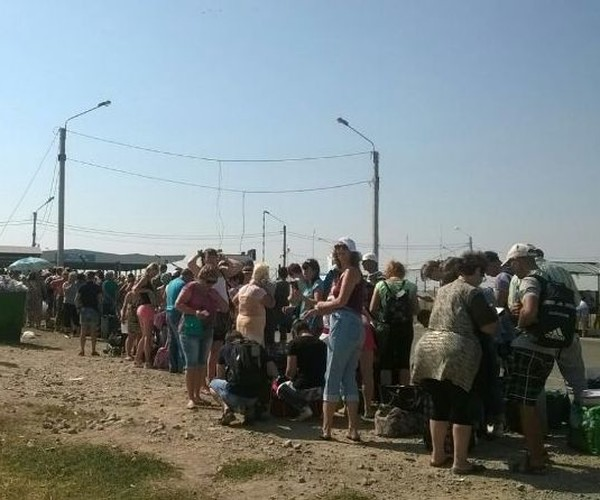 Очередь на границе с Крымом
