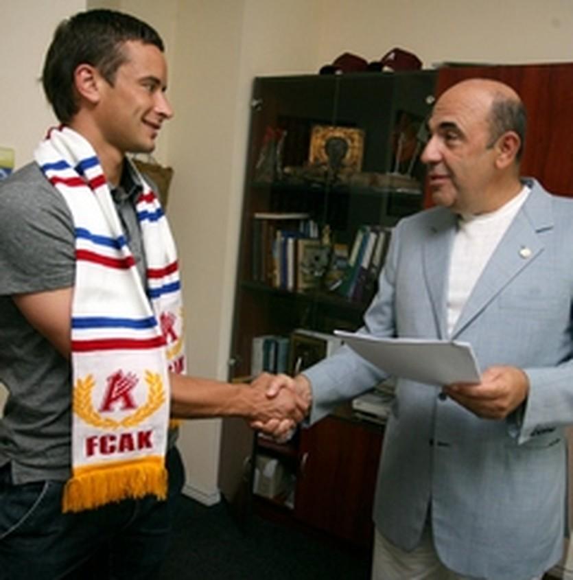 Витаутас Лукша с президентом Арсенала, фото ФК Арсенал