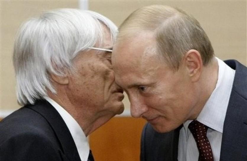 Берни Экклстоун и Владимир Путин, АР