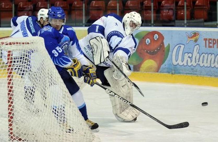 Матч с Соколом стал для вратаря последним в форме Витебска, фото Ильи Хохлова