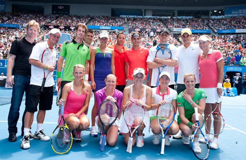 Участники благотворительного поединка, australianopen.com