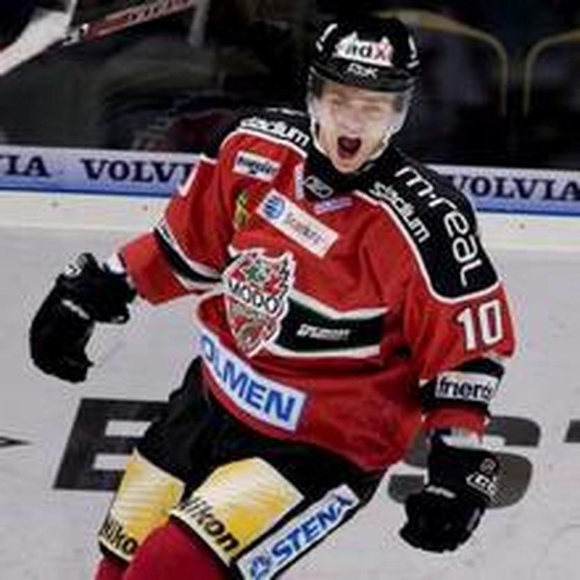 Ведущий форвард шведского Модо - Пер-Аге Скрьодер, hockey.expressen.se