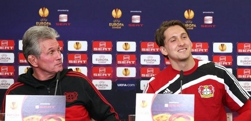 Юпп Хайнкес и Рене Адлер, фото ФК Байер
