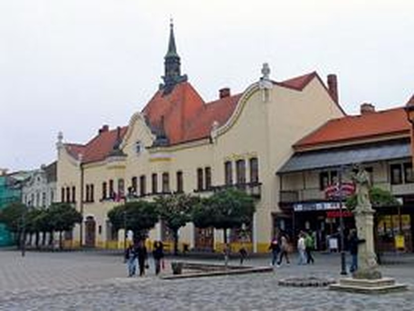 Центр Топольчан выглядит мило. Фото asb.sk