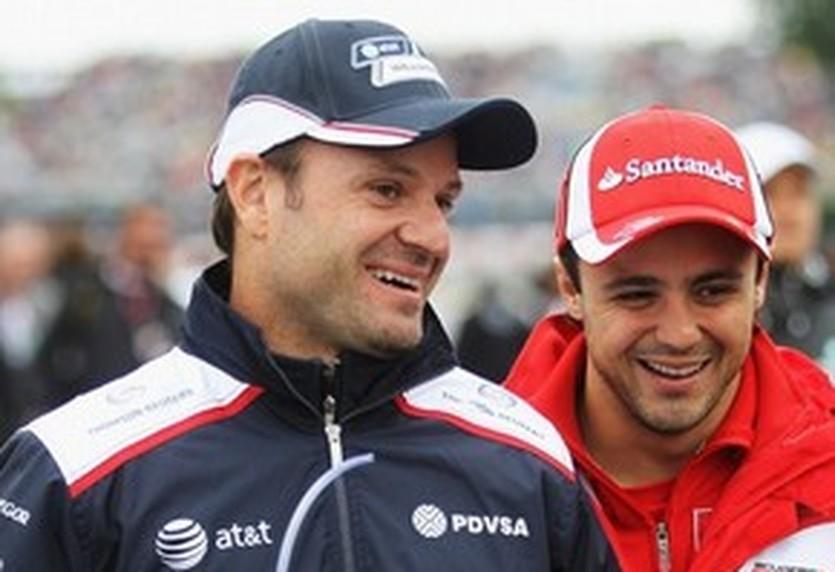 Рубенс Баррикелло (слева), Getty Images