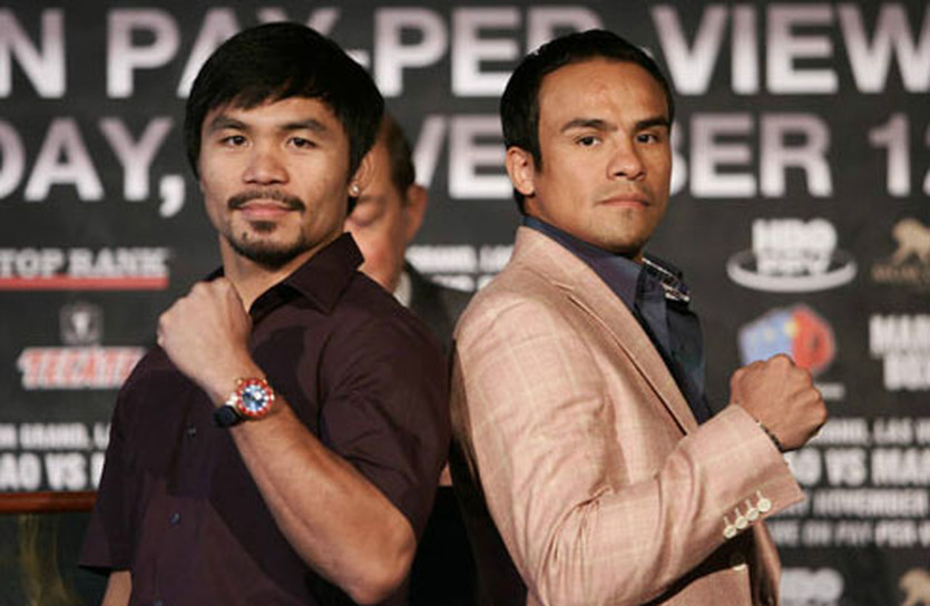 Мэнни Паккьяо и Хуан Мануэль Маркес в Нью-Йорке, Top Rank Boxing/Chris Farina